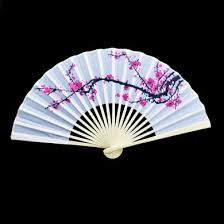 held fans bulk 9 cherry blossom silk fans for weddings 10 pack