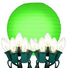 String Lights Indoors by String Lights Indoors 10 Light Green Paper Lantern String Lights