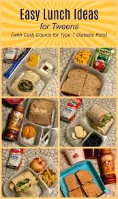 lunch for a diabetic easy lunch ideas for tweens with carb counts for type 1 diabetic