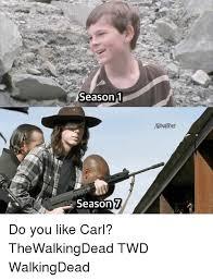 Walking Dead Memes Season 1 - season 1 7 season do you like carl thewalkingdead twd walkingdead