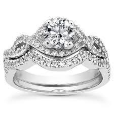 engagement rings set images Unique settings engagement ring set ens3136 worthington jewelers jpg