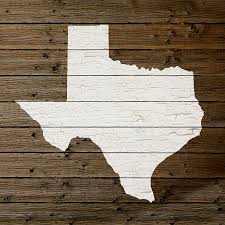 State Map Of Texas by Map Of Texas State Outline White Distressed Paint On Reclaimed