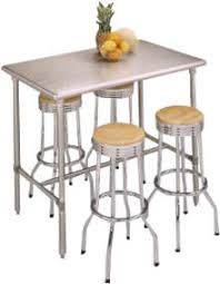 Stainless Steel Kitchen Table LightandwiregalleryCom - Stainless steel kitchen tables