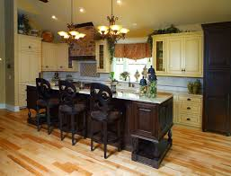 simple small kitchen design displaying antique kitchen cabinet and