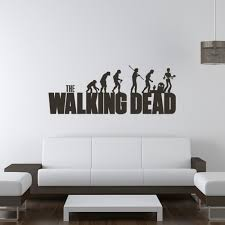 Crafty Design Ideas Walking Dead Room Decor The Evolution Wall