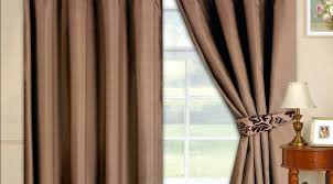 Brown Blackout Curtains Attractive Brown Curtains For Living Room Blogbeen