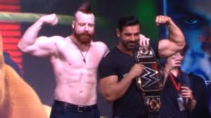 wwe world heavyweight championship winner sheamus with john