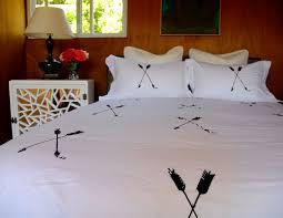 Valentina Ramos Duvet Arrow Duvet Set Hand Screen Printed Full Queen Modern Bedding