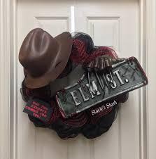 Scary Halloween Wreaths Halloween Wreath Freddy Krueger Elm St Nightmare On Elm