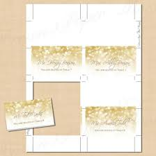 white gold sparkles place card tent fold to 3 5x2 text editable