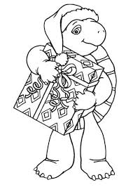 Franklin Turtle Christmas Present Coloring Pages Batch