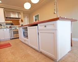 kitchen island microwave warm interior color with shaped pendant ls and white kitchen