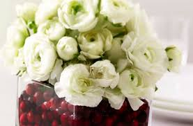 white floral arrangements cranberry flower arrangement spray