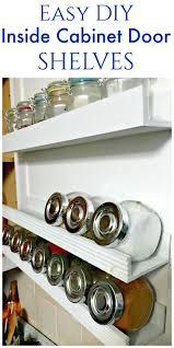 diy inside cabinet door shelf inside cabinets door shelves and