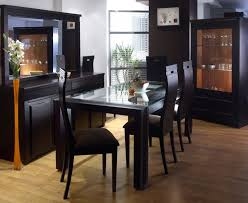 Delighful Black Modern Dining Room Sets Best Pictures Of Round - Black dining room sets