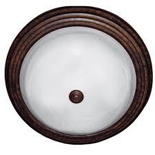 yosemite home decor 3 light dark brown flushmount with white