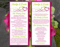 Tea Length Wedding Program Wedding Program Template Tea Length Program Wedding Program
