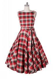 60s clothing vintage rockabilly retro swing plaid dress 50s style