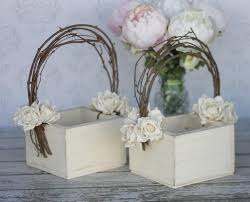 Shabby Chic Wedding Decor For Sale by Flower Basket Shabby Chic Wedding Decor Set Of 2 Item Number