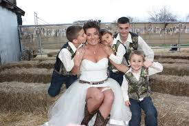 country wedding a joining of families farmstyle