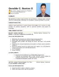 Audio Visual Technician Resume Sample Sample Resume For Ojt Computer Technician Resume Ixiplay Free
