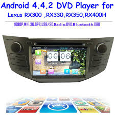 lexus rx300 audio system 2 din andriod 4 4 2 car dvd player with gps 3g wifi bluetooth for