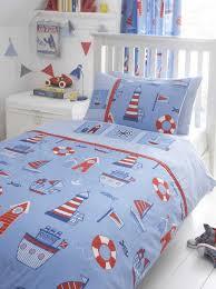 nautical boat sea ship sailing junior bed duvet cover set