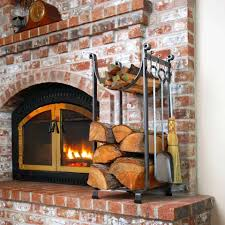 Indoor Outdoor Wood Fireplace Double Sided - diy indoor wood fireplace furniture metal firewood rack rustic
