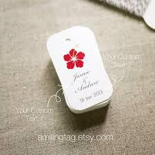 hawaiian themed wedding favors hawaiian theme wedding favor tags personalised gift tags thank