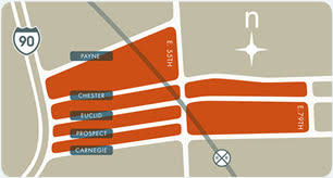 map of cleveland clinic midtown cleveland area map directions