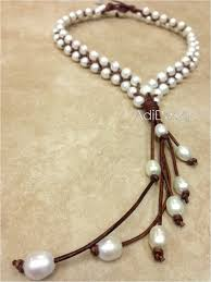 jewelry leather necklace images 57 pearls and leather necklace single leather and pearl necklace jpg
