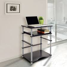Black Glass Computer Desks For Home Office And Workspace Good Image Of Furniture For Home Office