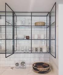 glass kitchen cupboard shelves 106 likes 6 comments modern nest modern nest on