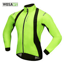 fluorescent cycling jacket fluorescent green cycling jacket men windproof bicycle clothing velo