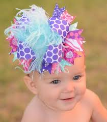 polka dot hair baby the top feather hair bows for infants toddlers