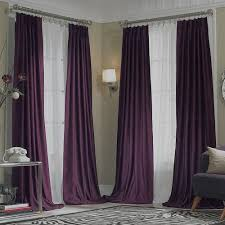 Purple And White Curtains Projects Idea Purple Curtains New Jcpenney Supreme Midnight