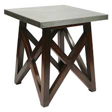 Outdoor Metal Side Table Antwerp Wooden U0026 Galvanized Metal Side Table At Home At Home