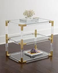 jonathan adler coffee table jonathan adler jacques acrylic brass two tier table neiman marcus