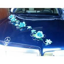 kit deco voiture mariage décor de voiture décoration voiture mariage turquoise argent