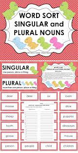 Sort Worksheets Alphabetically Word Sort Singular And Plural Nouns Plural Nouns Recording