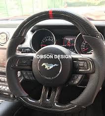 mustang steering wheels ford mustang steering wheel carbon fiber robson design carbon