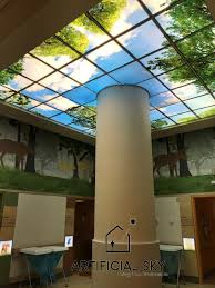artificial sky led skylights virtual sky acoustic ceiling tiles