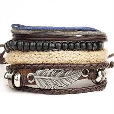 stainless steel cuff bangle bracelet images Buy eissely new men 39 s braided leather stainless steel cuff bangle jpg