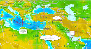 Map Of Benghazi World Financial Markets And Astrology 7 27 14 8 3 14