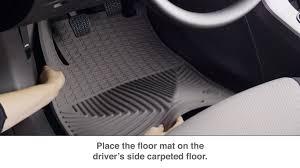 nissan altima 2015 all weather floor mats weathertech all weather floor mat installation video youtube