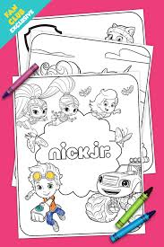 fan club exclusive springtime coloring pack nickelodeon parents