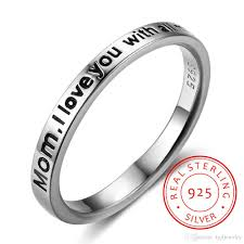 rings for mothers day 925 sterling silver ring s day gift personalized