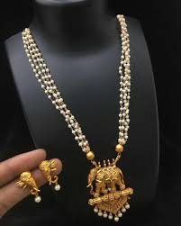 gold necklace with earrings images Baahubali elephant golden necklace earrings jewellery set anme jpg