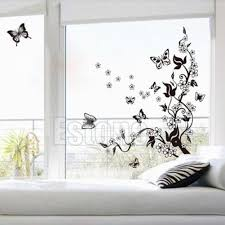 butterfly flower removable home wall sticker diy art vinyl
