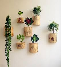 wood block flower vases wall flower pots planters home decoration